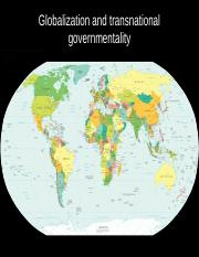 Globalization and governmentality