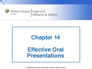 Chap 14 Effective Oral Presentations Lecture Notes