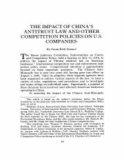 The Impact of China's Antitrust Law and Other Competition Policies on U.S. Companies.pdf