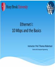Ethernet I - 10 Mbps and the Basics - NOTES.pdf