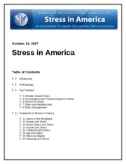 Stress in America Report by APA