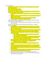 Class 5 Criminal Law Notes