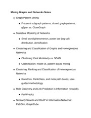 Mining Graphs and Networks Notes