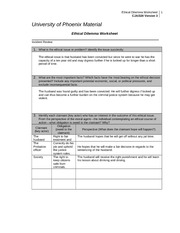 worksheet ethics and material ethical dilemma Dilemma three – ethics any indirect financial interest in an audit client where the investment is material to ethical dilemmas for auditors ethical.