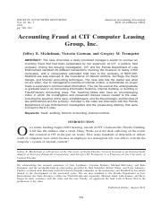 Accounting Fraud at CIT Computer Leasing Group, Inc..pdf