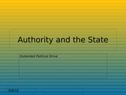 Authority and the State III