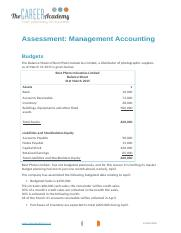 Assessment instructions - Budgets (1).docx