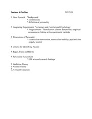 Lecture 6 Study Notes
