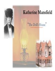 Lecture 6 Mansfield Pdf Katherine Mansfield The Dolls House The