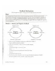 Feedback Mechanisms 1