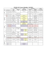 ENGR 1412 Schedule updated 8-22-11