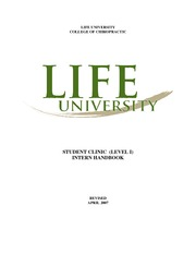 CLIN 2505 Student Clinic Level I Student Handbook