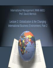 PPT 2 - Globalization & the Changing IB Environment, Part 2.ppt