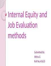 Internal Equity and Job Evaluation methods.pptx