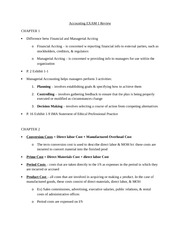 Exam Study Guide for Financial Accounting Chp 1-3