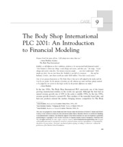 the body shop international plc 2001 Pdf | case has a spreadsheetin this case the student is cast into the role of  adviser to anita roddick, the managing director of the body shop.