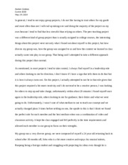 Peer Teach Reflection Paper