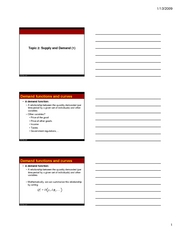 lecture2 - supply and demand - handout