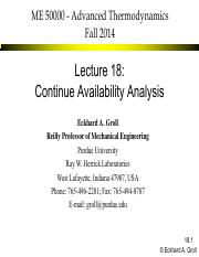 ME 50000 2014 Fall Lecture 18 Availability Analysis Continued