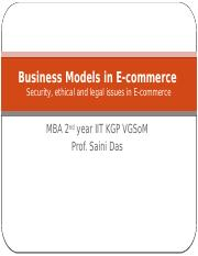 Security, Legal, ethical issues in e-commerce (2)