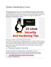 System Hardening in Linux.docx
