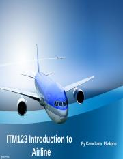 ITM123 Introduction to Airline Business week 1