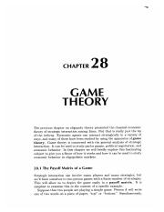28 Game Theory