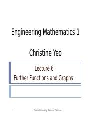 Math 1 lect06 - Further Functions and Graphs.ppt