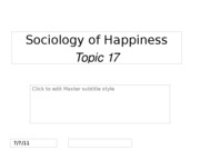 Topic 17 Sociology of Happiness for BLACKBOARD
