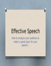 Effective Speech - Chapter Five