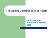 AAS The Social Determinants of Health