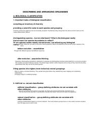 10 I02 - Describing and Arranging Organisms - pdf