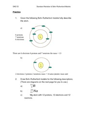 Standard Notation-Bohr Rutherford Models