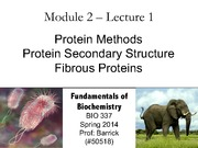 Module-2, Lecture-1 Protein Methods, Secondary Structure