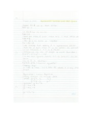 Applied Math - Approximate Solutions and Least Squares Lecture Note