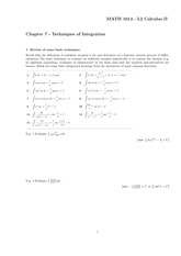 Chapter 7 - Technicques of Integration