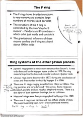 Rings of Other Jovian Planets Class Notes