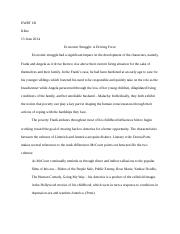 Angela's Ashes Critical Essay