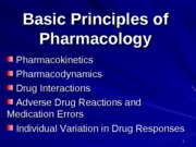principles of pharmacology- pharm