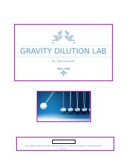 gravity dilution lab report.docx