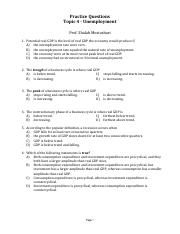 Practice questions Topic 4