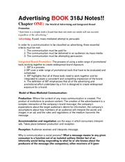 Advertising BOOK 318J Notes