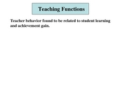 21 Teaching Functions