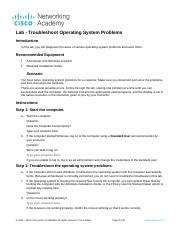 11.7.3.2 Lab - Troubleshoot Operating System Problems.docx