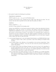 Midterm Exam B Fall 2011 on Foundations of Algorithms