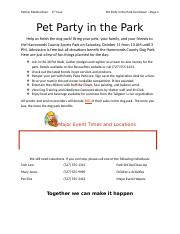 Pet Party in the Park.docx