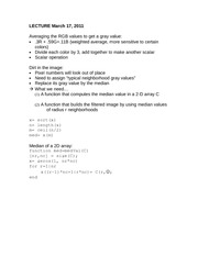 MATLAB Lecture 03_17_11