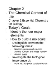 Chapter 2Notes