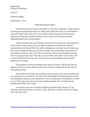 informative speech global warming