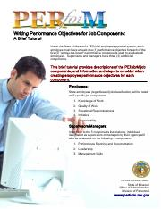 PERforMWritingPerformanceObjectivesforJobComponents-ABriefTutorial